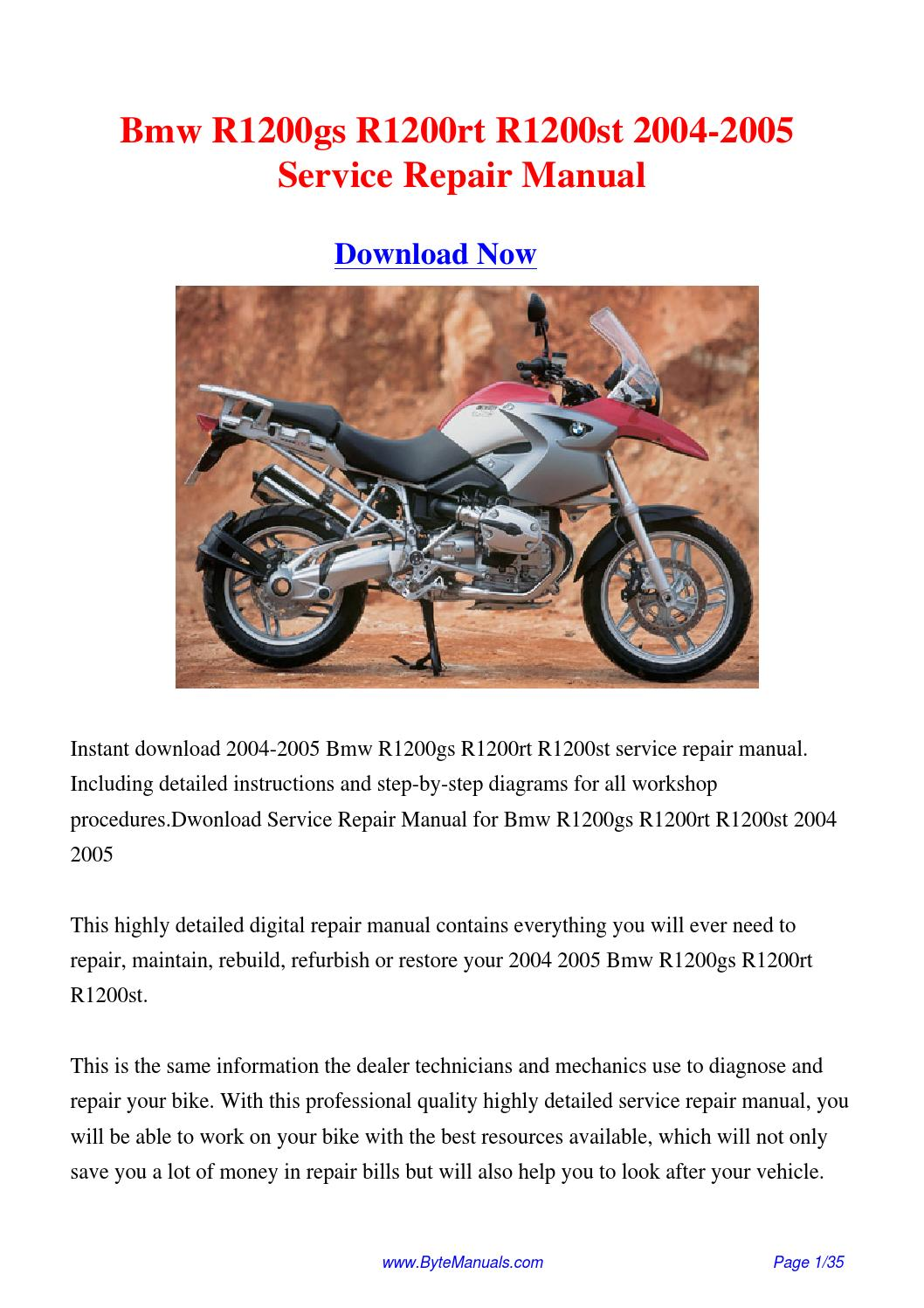 2005 bmw r1200gs owners manual pdf