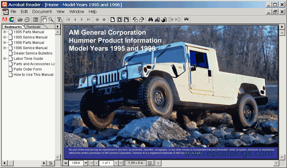 1995 hummer h1 owners manual