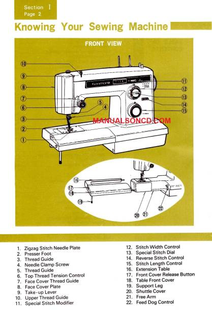 owners manual for kenmore sewing machine model 158