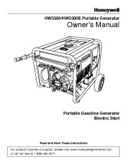 coleman powermate 5000 owners manual