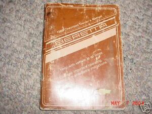 1988 chevy sprint owners manual