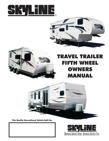 1986 jamee by skyline rv owners manual